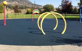 Vancouver rubber paving company offers playground and splashpark rubber flooring in Vancouver Burnaby Coquitlam Surrey and Langley