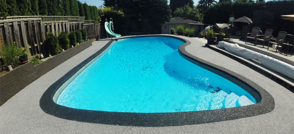 pool deck resurfacing by Vancouver rubber paving companies in burnaby Coquitlam and surrey