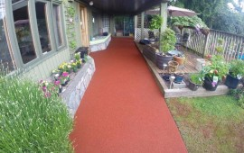 rubber patio pavers did the back sidewalk Burnaby