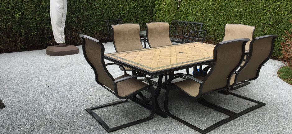 Vancouver paving companies offer rubber patio paving