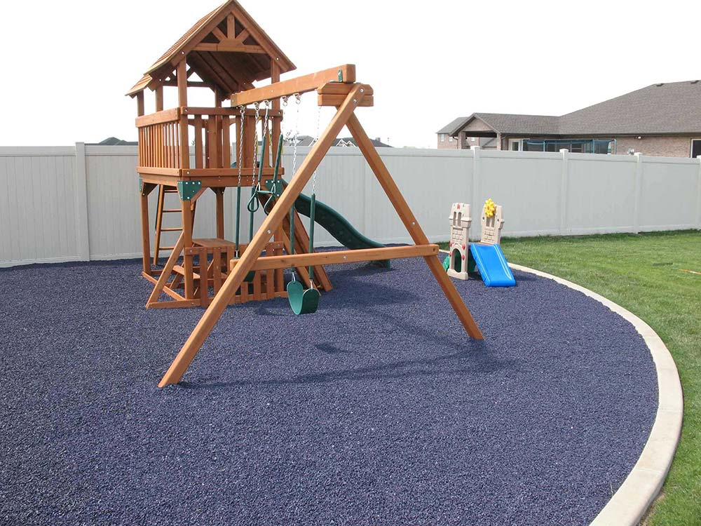 rubber flooring at playgrounds