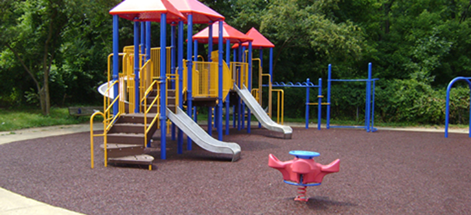Rubber paving company has rubber mulch and rubber playground surfacing