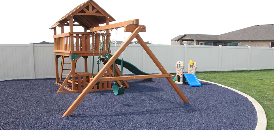 rubber flooring used as rubber playground surfacing