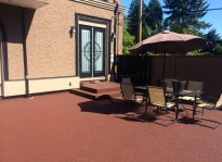 Garden patio resurfacing