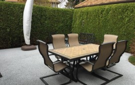 back patio paving ideas use rubber patio deck flooring in Surrey