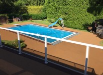 rubber pool deck ideas