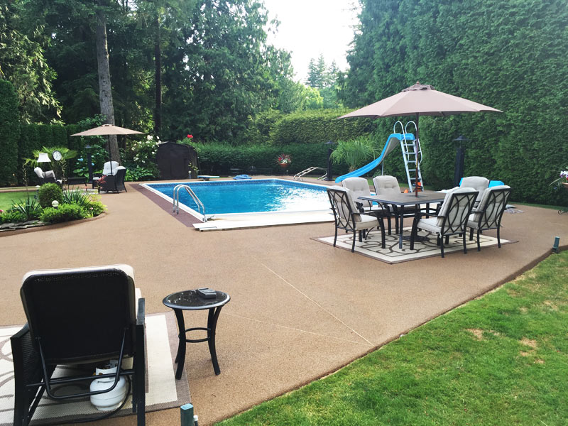 cement pool deck paving Surrey