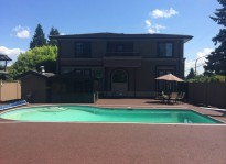 pool deck ideas using a rubber paving company Coquitlam