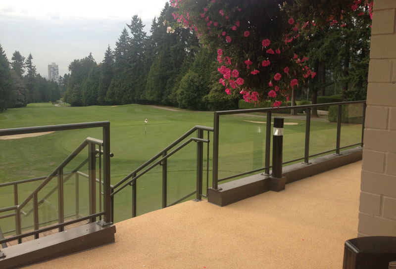 golf clubhouse rubber deck and porch
