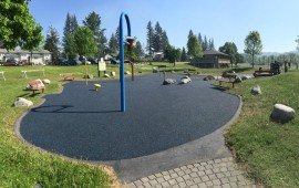 rubber paving on playground flooring in Burnaby