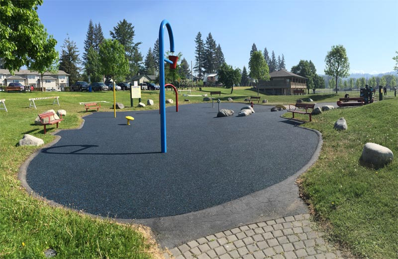 rubber splash park paving and playground flooring in Burnaby