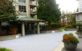 rubber sidewalk, commerical driveway paving companies and apartment entrance resurfacing Coquitlam