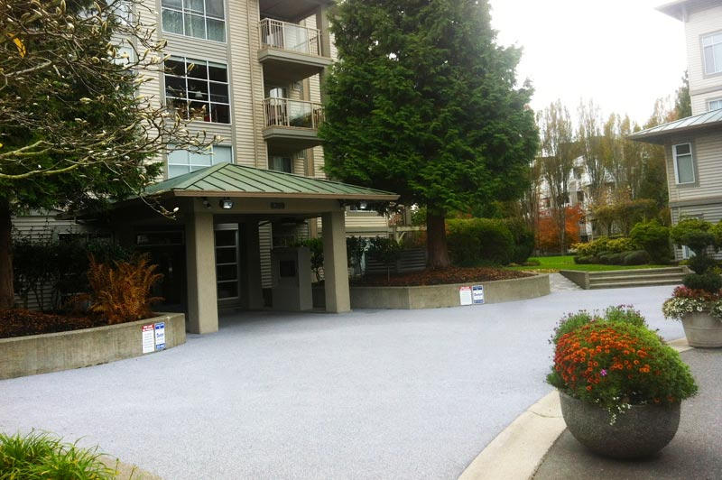 rubber sidewalk, commerical driveway paving companies and apartment entrance paving Coquitlam