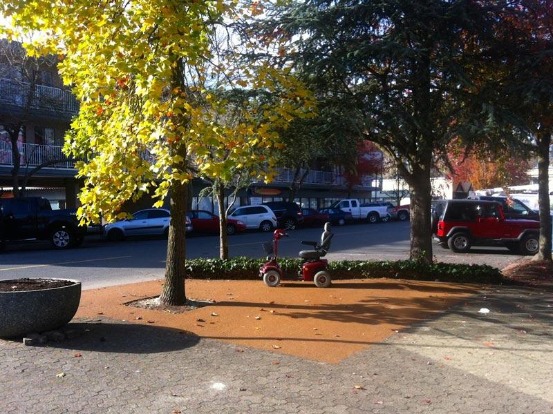 pedestrian rubber sidewalk