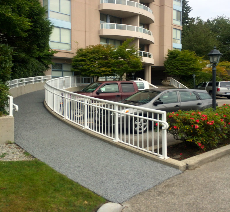 non slip rubber wheelchair access ramp