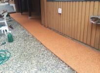 recycled rubber sidewalk in Burnaby