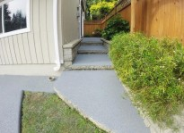 non slip rubber stairs or stairway and sidewalk paving Surrey