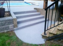 cement stairway resurfacing with rubber pavement Burnaby