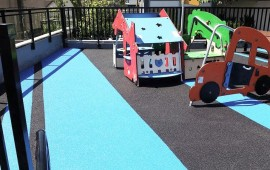 rubber playground surfacing